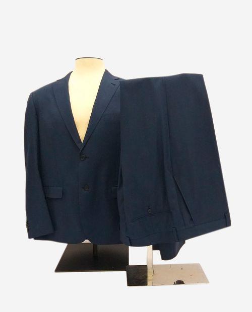 Traje tradicional de lana solid blue