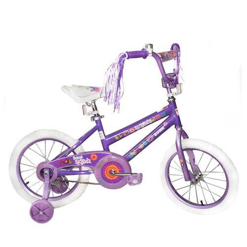 Bicicleta rin 16 morada 1-girlz racer