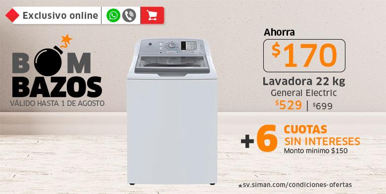 Ahorra hasta $170 en lavadora