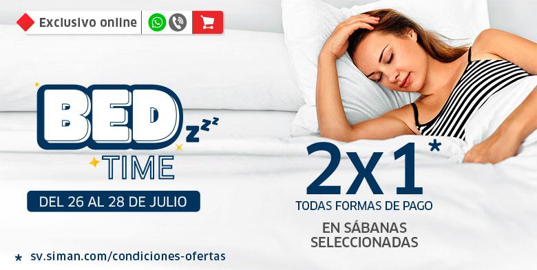 BED TIME: 2x1 en sábanas