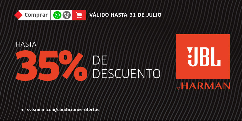 HASTA 35% JBL