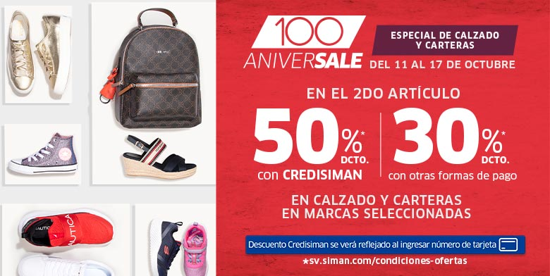 ANIVERSALE | FESTIVAL DE CALZADO | 50% CS / 30%