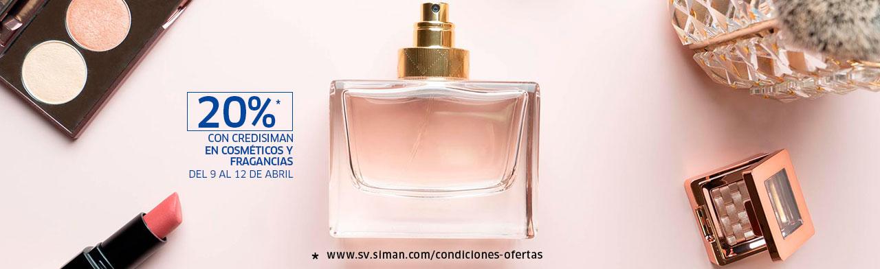 Descuento en cosméticos y fragancias